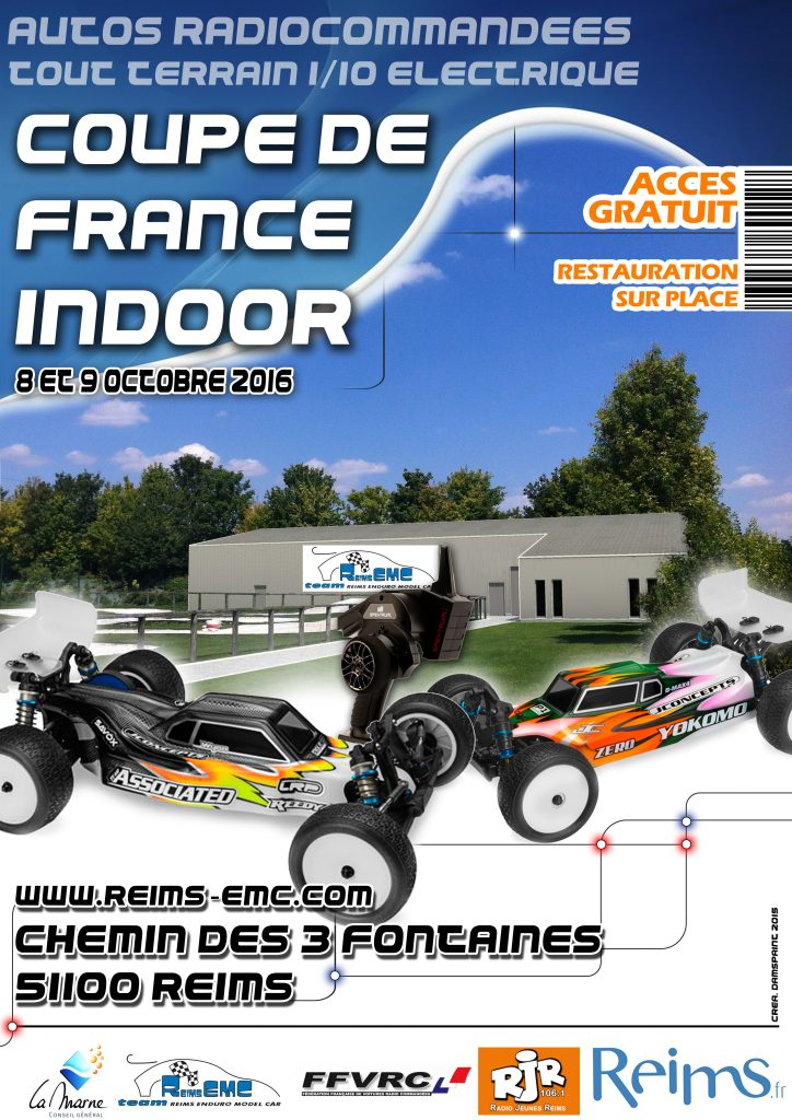 Affiche 8 et 9 octobre coupe de france tt 1/10 elect.